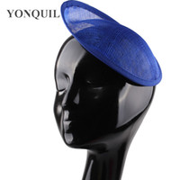 ingrosso fascinator blu royal-Blu reale o multipla di colore 20 cappello CM Sinamay base di fascinator fai da te Accessori per capelli modisteria Handmade Materiale nave libera 5pcs / Lot