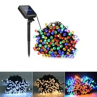 Wholesale solar lit christmas trees for sale - Group buy Solar Lamps LED String Lights LEDS Outdoor Fairy Holiday Christmas Party Garlands Solar Lawn Garden Lights Waterproof