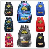 Wholesale casual teenager - 14 Colors Fortnite Battle Royale Backpack Shoulder Bags Backpacks Fortnite Teenager Students School Bag Sports Casual Bags CCA9871 60pcs