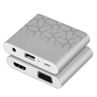 ipad vídeo cabo hdmi venda por atacado-Os mais recentes 3 em 1 usb para hdmi vga conversor de áudio e vídeo digital av adaptador de cabo para iphone 6 6 s 7 ipad macbook ios android