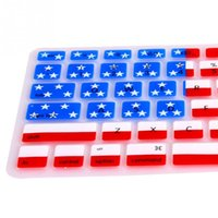 Wholesale Skin Macbook Pro 17 - Novelty Design US Flag Style Silicone Anti-scratch Stain-proof Keyboard Skin Protective Film For Macbook Pro 13 15 17 inch