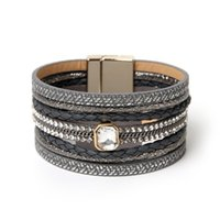 europa-art und weisecharme-kornarmband großhandel-ZG Armband Großhandel 2018 Modeschmuck Lederarmband für Frauen Armreif Europa Perlen Charms Gold Weihnachtsgeschenk
