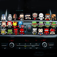 Wholesale car interior perfumes online - For Marvel Avengers Heros Figure Car Air Condition Vent Perfume Balsam Fragrance Air Freshener Interior Decoration Car styling