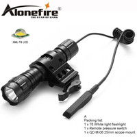 lámparas de caza cree al por mayor-AloneFire 501Bs Cree linterna táctica LED XML-T6 con luces con interruptor de montaje universal lámpara de caza