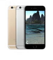 Wholesale Iphone 5pcs - 5PCS Apple iPhone 6 Unlocked Cell Phone 4.7 inch 16GB 64GB 128GB A8 IOS 8.0 4G FDD Without Fingerprint Refurbished Phone