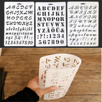 tarjetas de scrapbooking al por mayor-Alfabeto Número ABC Plantillas de estratificación Etiqueta Pintura Scrapbooking Plantilla de tarjeta de papel Decoración