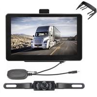 Wholesale ir camera for car - 7 inch Bluetooth Car Truck GPS Navigation AVIN for Wireless IR Reverse Camera GPS Navigator System Preloaded POI 8GB Maps With GPS Sunshade