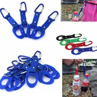 Wholesale pounds cups - Outdoors Water Bottle Buckle Cup Hook Holder Clip Bottle Hanger Aluminum Carabiner travel Tool Camping Hiking Gadgets AAA459