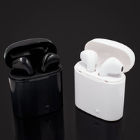 Wholesale Earbuds Iphone Box - I7S TWS Bluetooth Headphone with Charger Box Twins Wireless Earbuds Earphones for iPhone X IOS iPhone Android Samsung with Retail Package