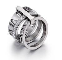 valentinische ringe großhandel-Heißer Verkauf Trend Mode Paare Ringe Titan Edelstahl Valentinstag Ring Hohe Qualität Mix Günstige Großhandel Zirkonia Ringe