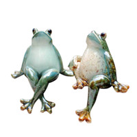 Wholesale Frog Decorations - Creative Home Furnishing Modern New Home Living Room Animal Decoration Wine Garden Courtyard Decoration Ceramic Frog