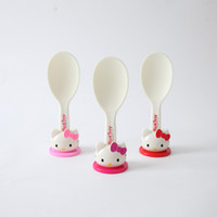 ingrosso cucina a gattino-1 PZ Bella Ciao Kitty Mestolo Antiaderente Paddle Riso Può Stand Plastica Cucchiai Pasto Utensili da cucina 5B