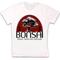 ingrosso bonsai trees-Bonsai Small Trees Big Dreams Retro Vintage Hipster Maglietta unisex 1209