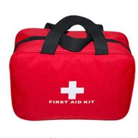 sacos médicos ao ar livre venda por atacado-Kit de Primeiros Socorros Promoção Kit de Primeiros Socorros Grande Carro kit de Primeiros Socorros Ao Ar Livre saco de Viagem de sobrevivência de Acampamento kits médicos de sobrevivência Atacado frete grátis