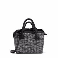 магазин зебры оптовых-Известный бренд дизайн Черная солома сумки Зебра Pattern женщины летние покупки одно плечо сумки Сумка 2018 мешок основной