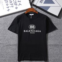 danksagungs-krawatten für männer großhandel-Damen Herren 2018 Neue Mode T-shirt mit Marke Brief Druck Mode Designer Top Tees Kurzarm Casual T-shirt S-2XL
