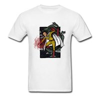 camiseta china de impresión al por mayor-Camiseta estampada clásica One Punch Man Superhero Anime Cosplay Camisetas Chinese Dragon Camiseta tradicional Funny Tee Shirt