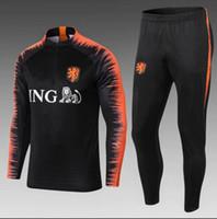 ingrosso adulti tute-Tuta da calcio per adulto tuta olandese 18 19 chandal, maglia da calcio, tuta sportiva, set di giacche sportive