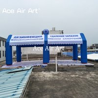 Wholesale inflatable tunnels - 8 m L* 4 M w Inflatable Mist Tent with logo for car cover tunnel tent and exhibition