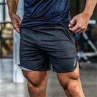Mens gym cotton shorts Run jogging sports Fitness bodybuilding Sweatpants male profession workout Crossfit short pants