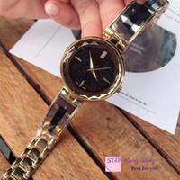 bayanlar altın kol saatleri toptan satış-2018 Özel Tasarım Kadınlar saatler Hardlex Band Altın Renk Kemer Bayan Kol Saati Kadın Kuvars Ücretsiz kargo Yüksek Kalite Ünlü Marka