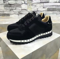 Wholesale perfect band - 2017 NEW High Quality Runner Studded Sneaker Shoes Women,Men Rockrunner Women,Men Perfect Gift Trainers Casual Walking Flats Size 36-46