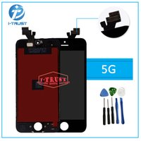 Wholesale Lcd Iphone 5g - AAA Quality LCD Display Touch Screen Digitizer for iPhone 5G LCD and free Good Repair Replacement Parts +Free Repair Tools+Free Shipping