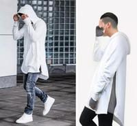 zipper branco cinza hoodie venda por atacado-Designer de estilo hoodies homens com zíper sólido preto branco cinza mens hoodies e camisolas de hip hop clothing casual streetwear camisola