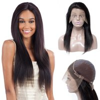 Wholesale black hair weave hairstyles online - High Quality Lace Front Wigs Straight Human Hair Weave Wig Brazilian Indian Human Hair Wigs Malaysian Human Virgin Hair Wigs Price