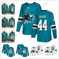 Wholesale 48 sharks jersey - San Jose Sharks #44 Marc-Edouard Vlasic 47 Joakim Ryan 48 Tomas Hertl 50 Chris Tierney 2018 New Teal Green White Hockey Jerseys S-60