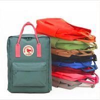 Wholesale waterproof canvas rucksack - 7L 16L 20L Women Kids Outdoor Vintage Waterproof Mini Canvas Student School Backpack Business Laptop Bag Outdoor Travel Rucksack Handbag