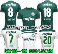 Wholesale top green soccer jerseys - Top Thai quality 18 19 Palmeiras SOCCER JERSEY HOME GREEN DUDO G.JESUS JEAN ALECSANDRO Palmeiras Away ALLIONE CLEITON XAVIER football SHIRTS