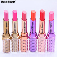 Wholesale bright lipstick for sale - Group buy Music Flower Hot Selling colors Fashion Makeup Bright Lipstick Waterproof Long Lasting Baby Pink Miosturizer Lipstick