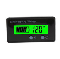 Wholesale 8 V LCD Acid Lead Lithium Battery Capacity Indicator Voltmeter Voltage Battery Testers Tools R08 Drop ship