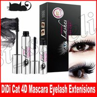 Wholesale long lashes mascara - Hot DiDi Cat 4D Mascara DIDI Cat Lashes Eyelash Extenisions With Fiber DDK Mascara DHL Free