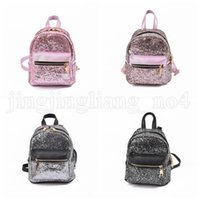 Wholesale mini golf - Sequin PU Leather Backpacks Women Girl Bling Zipper Shinning Mini Bags Travel Casual School Shoulder Bags Outdoor Bags OOA5215