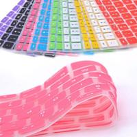 arabischer tablette-pc großhandel-9 Bonbonfarben Silikon-Tastatur Skin für Apple Macbook Pro MAC 13 15 17 Air 13