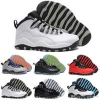 zapatillas de baloncesto en línea al por mayor-[Con la caja] Comercio al por mayor barato Air 10 zapatos de baloncesto para hombre Zapatillas de deporte Mujeres Hombres Superstar en línea s X Sport Canvas Real auténtico 41-47