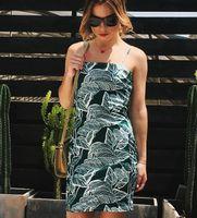 Wholesale ladys dresses - Wholesale Price - Sexy Womens dress 2018 New Womens suspenders mango Print holiday beach Dresses Fashion Ladys Dress Size:S-2XL