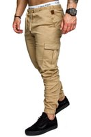 taschen mens kampfhosen großhandel-Herren Arbeitshosen Komfort Baumwolle Weiche taktische Armee Cargo Combat Casual Multi-Pocket Duty Fitness Bodybuilding Hose