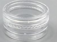 leere klare behälter großhandel-1 ML / 1G Kunststoff Leere Glas Kosmetische Probe Klarer Topf Acryl Make-up Lidschatten Lippenbalsam Nail art Stück Container Glitter Flasche Reise