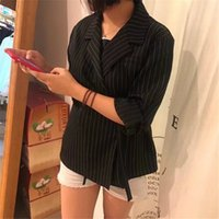 tendencia de moda kimono al por mayor-2018 Spring New Kimono Style Bandwidth Loose Wrap Mujeres traje pequeño, Street Trend Thin Fashion Suit Mujeres