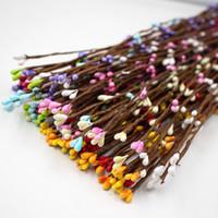 bracelet en fleur achat en gros de-100 pcs 40 cm Fleurs artificielles berry tige pour canes bracelet couronne floral arrangement artisanat décoration matériel bricolage guirlande