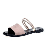 Wholesale denim women casual fashion wear - 2018 new summer wear two fashion sandals ladies flat casual wear slippers wild female sandals luxury high quality large size 36-40