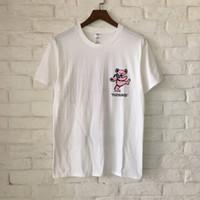 Wholesale Pleasures Women - 2018 Summer Style Pleasures Pink Bear Printed Women Men T shirts tees Hiphop Streetwear Men Cotton T shirt Outwear