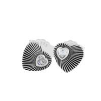 Wholesale heart shaped jewelry findings resale online - Vintage Heart Fans Earrings Heart Shape Earrings Original silver jewelry European Style Earrings Studs For Woman Jewelry Finding