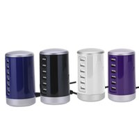 portable iphone charger großhandel-6 Ports USB Power Adapter Portable Reise USB Desktop-Wand Power Charger Adapter für mehrere Geräte