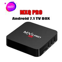 lecteur de films pc achat en gros de-1 PCS Moins Cher RK3229 MXQ PRO 4K Tv Box Ram 1G Rom 8G Android 7.1 boîte de télévision Stream Media Player Support Films 3D Gratuits