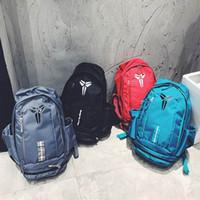ingrosso imballaggio del cestino-New Style KOBE Bag Uomo Zaini Borsa da basket Sport Zaino Sacchetto di scuola per adolescente Zaino esterno Zaino multifunzionale