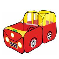 cabaña para niños al por mayor-Kid Juego Play House Baby Playpen Casa Kid Safe Portable Playpen Toy Carpa Huge Car Design Hut Ball Pool Ball Outdoor Indoor